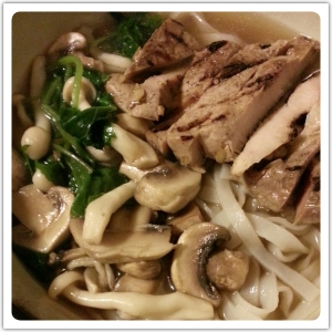 Pork Tenderloin Noodle Soup