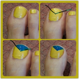 NailsBlueYellowTriangle2